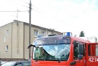 Pożar domu na ul. Hożej w Gnieźnie. Jedna osoba w szpitalu