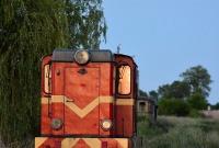 Wykolejona wąskotorówka na trasie Gniezno - Niechanowo
