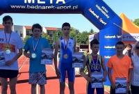 Kuba Kowalski Wicemistrzem Polski w kategorii młodzików w triathlonie - Gołuchów 2015