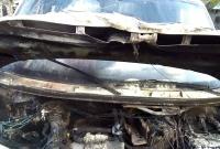 Pożar auta z przyczepą do przewozu koni
