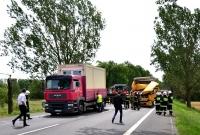 Zderzenie trzech ciężarówek i osobówki w Modliszewku