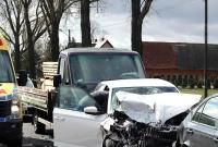 Zderzenie sześciu aut na krajowej