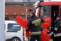 Wypadek na ul. Poznańskiej! Motocyklista w ciężkim stanie trafił do szpitala