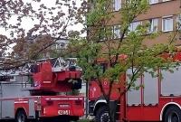 Pożar w wieżowcu na Winiarach