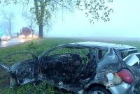 Strażak spłonął w rozbitym samochodzie!