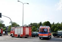 Zderzenie dwóch aut na skrzyżowaniu ul. Kostrzewskiego i Cienistej