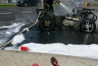 Pożar quada! Ogień pojawił się w trakcie jazdy