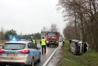 Kolejny wypadek na trasie Gniezno - Trzemeszno
