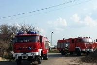 Pożar chlewni w Łubowiczkach