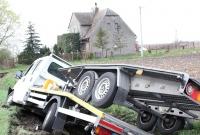 Trzy ciężarówki zderzyły się w Cytrynowie!