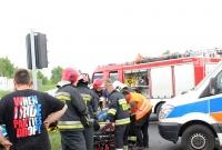Kolejny wypadek w Rudkach! Dwie osoby w szpitalu