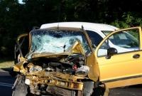 Wypadek z Cytrynowie! Matiz uderzył w auto dostawcze