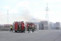 Pożar magazynu zewnętrzengo w firmie Paroc