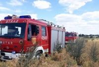 Pożar w Pakszynie! Spłonęła maszyna rolnicza