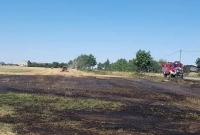 Pożar zboża w Turostowie