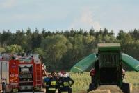 Pożar zboża przy ul. Pustachowskiej w Gnieźnie