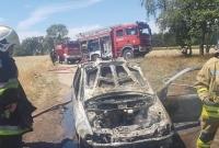 Pożar auta w Ruchocinku