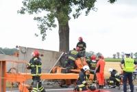 Wypadek w Modliszewie! Auto uderzyło w przydrożne drzewo