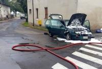Pożar auta w Czerniejewie