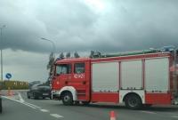 Kolizja na rondzie w Mielnie