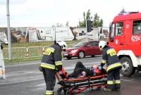 Motocyklem w Skodę! Jedna osoba w szpitalu