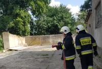 Pożar auta w Rybnie Wielkim