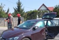 Zderzenie dwóch osobówek i ciężarówki na ul. Kłeckoskiej