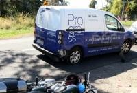 Motocyklista uderzył w samochód! W akcji śmigłowiec LPR