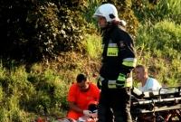 Tragiczny wypadek w Bystrzycy! Nie żyje kierowca busa