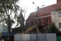 Budowa muru oporowego przy kościele św. Jana
