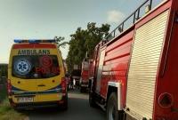 Wypadek w Łopiennie! Motorower wjechał wprost pod nadjeżdżający samochód