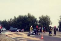 Zderzenie samochodu osobowego z motocyklem