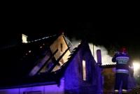 Pożar domu w Niewolnie