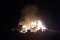 Dwa pożary stogów jednej nocy