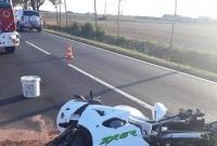 Zderzenie motocykla z samochodem osobowym w Żydowie