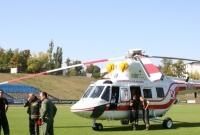 Prezydencki śmigłowiec lądował na płycie stadionu przy ul. Strumykowej