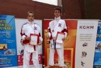 Komplet medali zawodników Inochi Gniezno podczas Pucharu Polski w Karate Olimpijskim