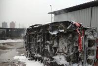 Spłonął wrak samochodu OSP