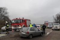 Zderzenie dwóch aut w Oborze