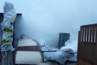 Pożar domku letniskowego w Wiekowie