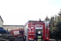 Pożar suszarni drewna w Łabiszynku