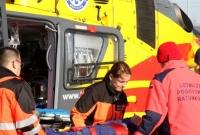 Wypadek w firmie Paroc w Trzemesznie! Poszkodowanego zabrał śmigłowiec
