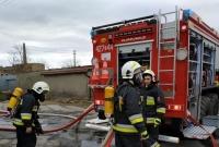 Pożar kotłowni na biomasę w Łabiszynku