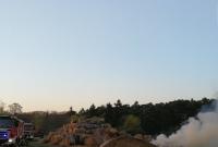 Pożar stogu w miejscowości Głębokie