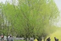 Obóz ćwiczebny wojsk wielkopolskich w Wielkopolskim Parku Etnograficznym w Dziekanowicach