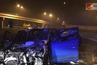 Pożar auta na węźle w Wierzycach