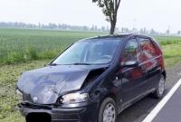 Zderzenie samochodów na krajowej