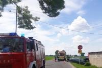 Wypadek na skrzyżowaniu w Gorańcu