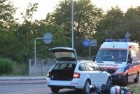 Zderzenie samochodu osobowego i skutera na ul. Osiniec