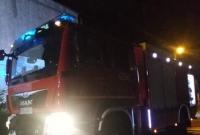 Pożar garażu w Piekarach